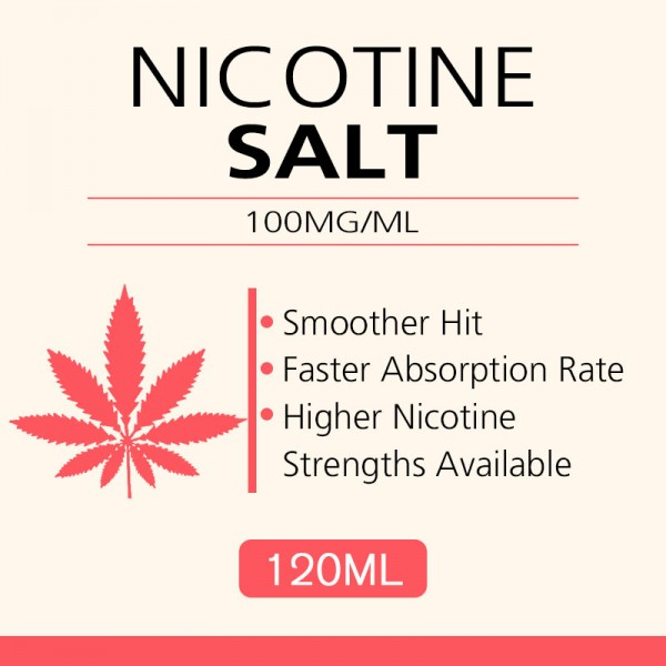 120ML 100mg/ml nicotine salts