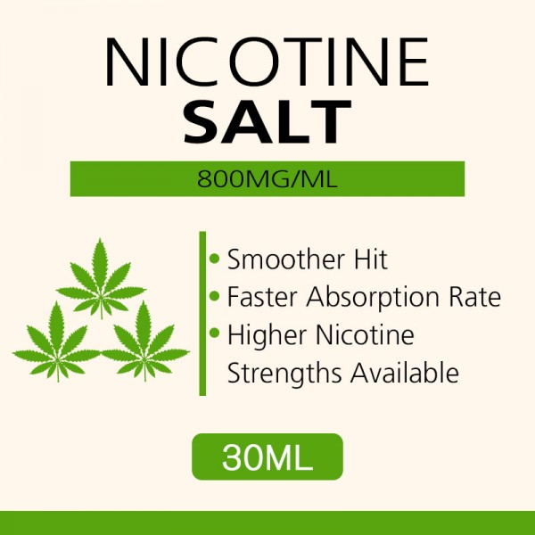30ML 800mg/ml nicotine salts Very high