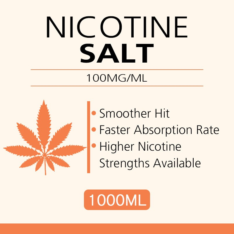 1Liter 100mg/ml nicotine salts