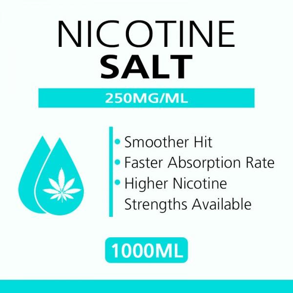 1Liter 250MG/ML ニコチン塩入り溶液